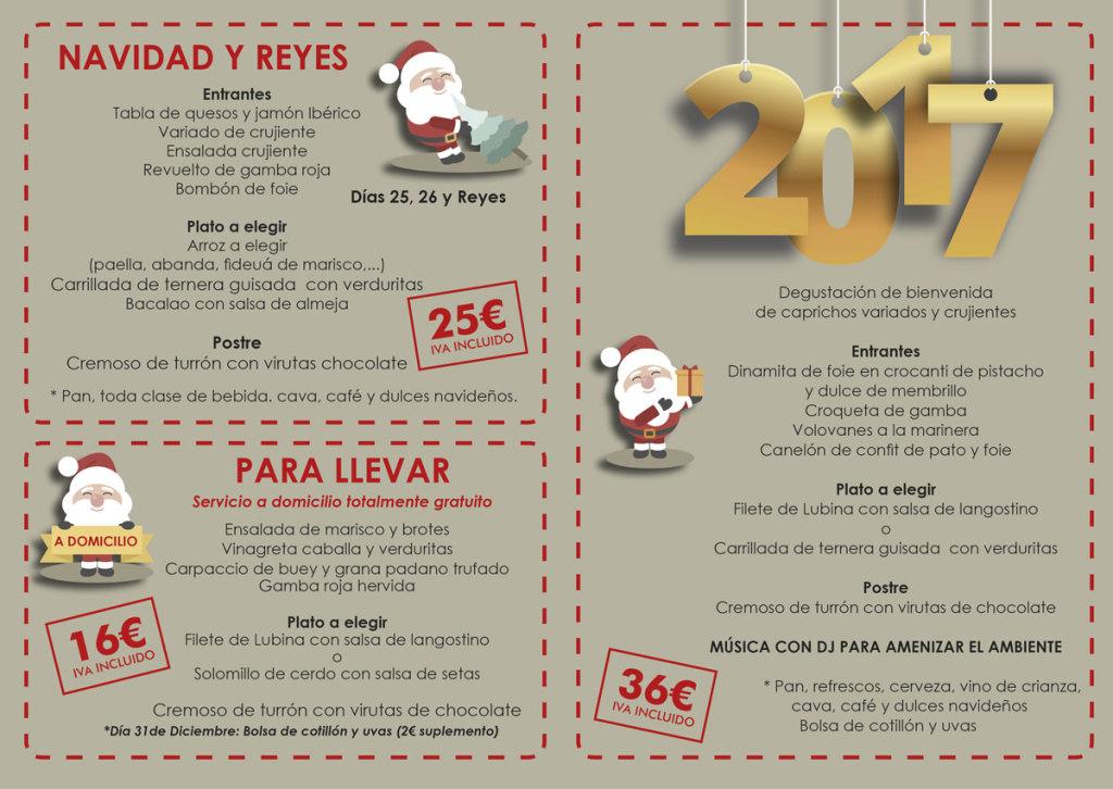 Menu de empresa, navidad y nochevieja 2016